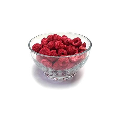 Whole and Broken Raspberries